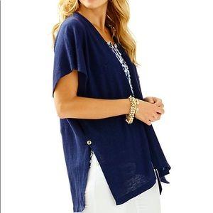 Lilly Pulitzer MYRA linen cardigan XXS/XS NWT